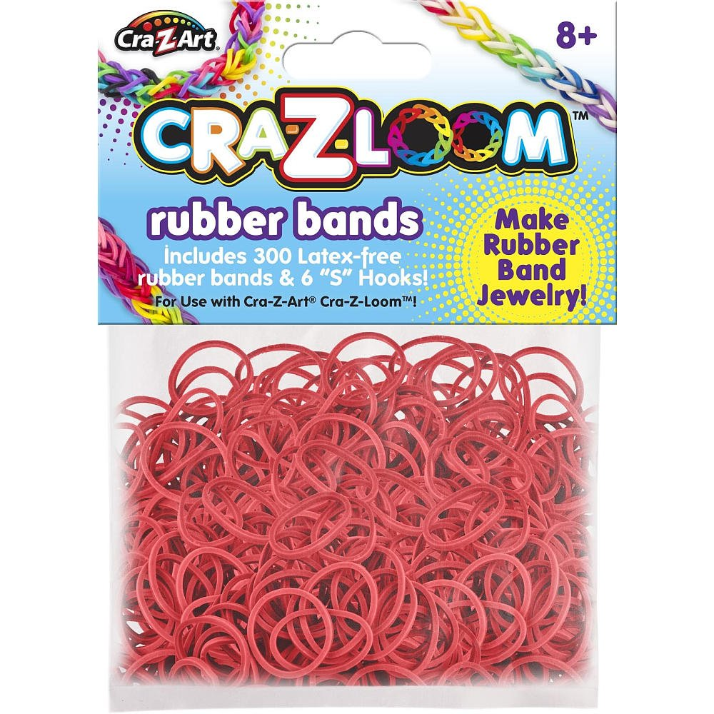 Cra Z Loom Rubber Band Basic Colors Refill Bright red