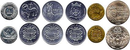 Belgium Euro 8 Coin Uncirculated Set Mixed Dates 1999-2002