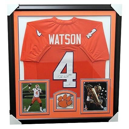 half off adf87 ca51e Deshaun Watson Clemson Tigers Framed Autographed Signed ...