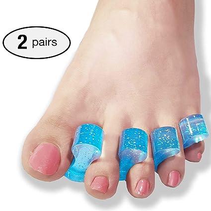 2 pares Separador de dedos de gel, para corregir hallux valgus, alivio del juanete