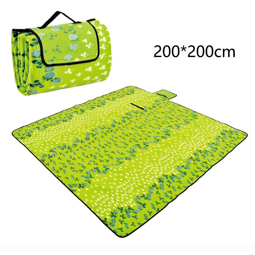 ERRU-Feuchtraum-Pad im Freien kampierendes Feuchtigkeitsbeweises Matten-bewegliches schlafendes faltbares Auflage(200  200CM) Waterproof Feuchtigkeit