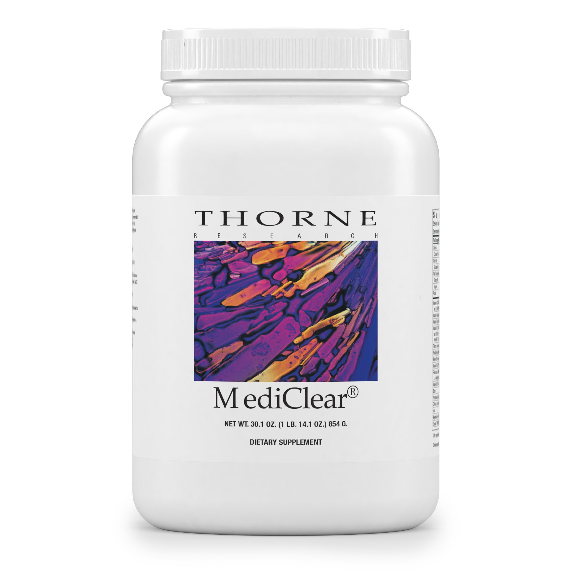 Thorne Research - MediClear - Detox, Cleanse, and Weight Loss Support - Rice and Pea Protein-Based Drink Powder with a Complete Multivitamin-Mineral Profile - 30.1 oz.