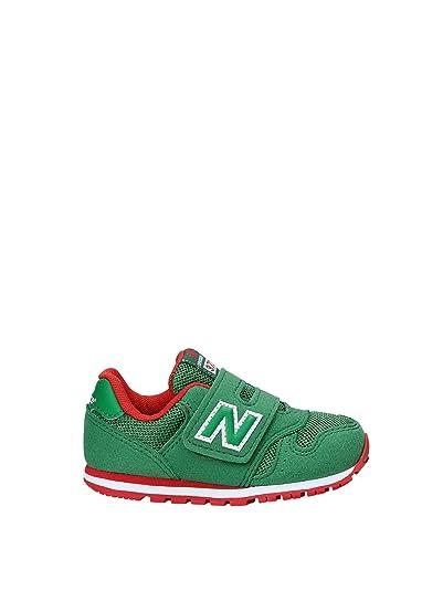 New Balance IV373GR, BambinoA, Unisex,Velcro, Crosta E Tela