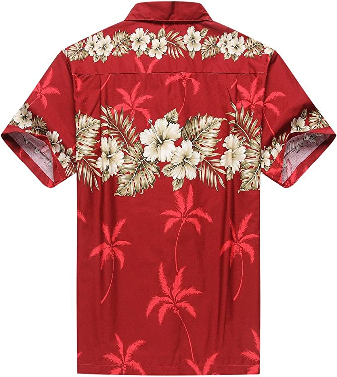 Hecho en Hawai Pareja Luau Aloha Camisa de Vestir Vestido de Tanque Cruz Oro Rojo: Amazon.es: Ropa y accesorios