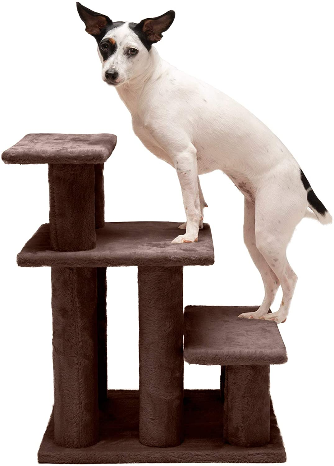 Furhaven Pet - Steady Paws Furniture Assist Multi-Step Dog Stairs for High Beds & Couch for Dogs & Cats - Multiple Heights & Colors