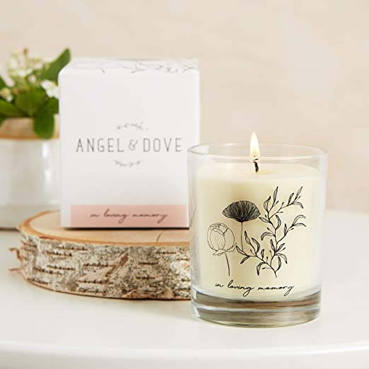 Heart Memorial Candle Holder Memorial Candle Holder,Angels Prayer and Blessing Memory of Love Alloy Glass Candle Holder Decoration Without Candle for Home Living Room Bedroom Decoration
