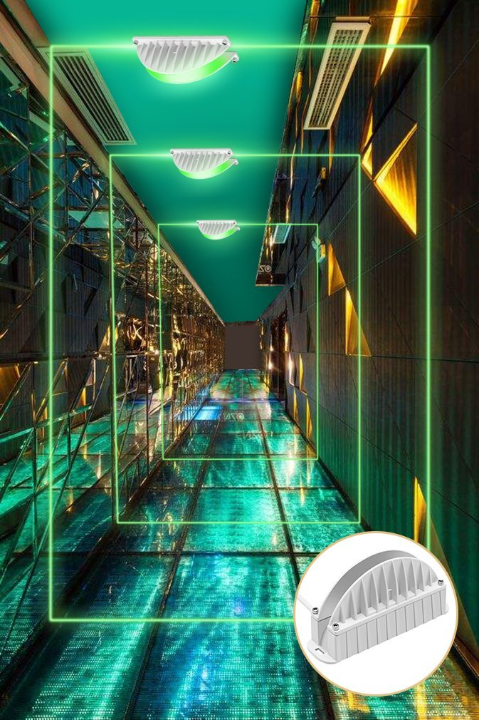 Cinoton LED 10W Window Light Garage Door Frame Lighting LED Wall Washer Light (Green)