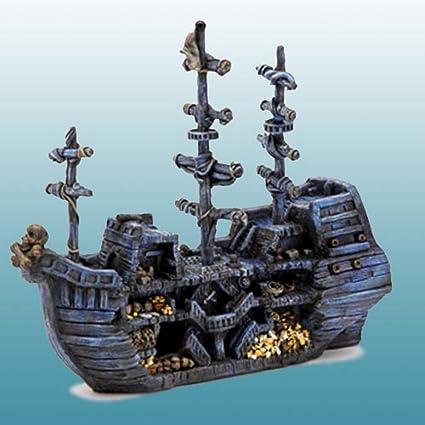 Amazon Com Domestic Pet Aquariums Decorations Pirate Treasure