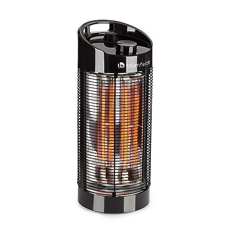Blumfeldt Heat Guru 360 - Calefactor de pie , Radiador , Estufa de infrarrojos , Potencia de 600 ó 1200 W , Protección IPX4 , Oscilación 120 a 360 °C ...