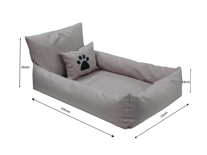 Divano per cani Didi Cuccia Cuccia Cuccia Letto Piazza Cuscino per Cani M – 75 x 100 cm, colore  lilla e viola scuro 56ae3c