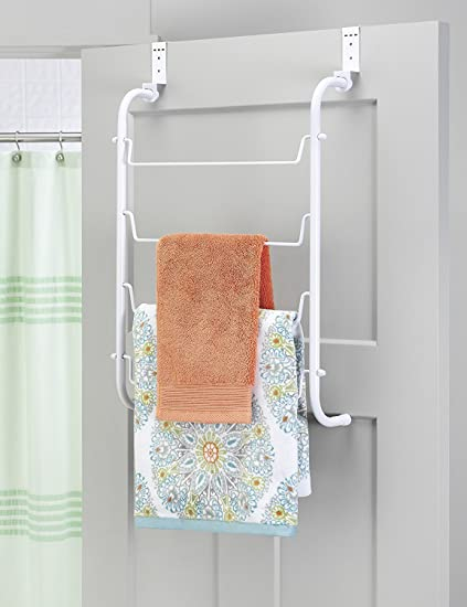 Behind door towel rack