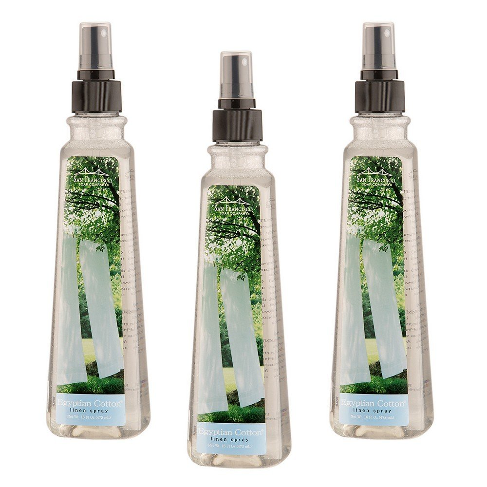 San Francisco Soap Company Egyptian Cotton Linen Spray - Set of 3 by San Francisco Soap Company