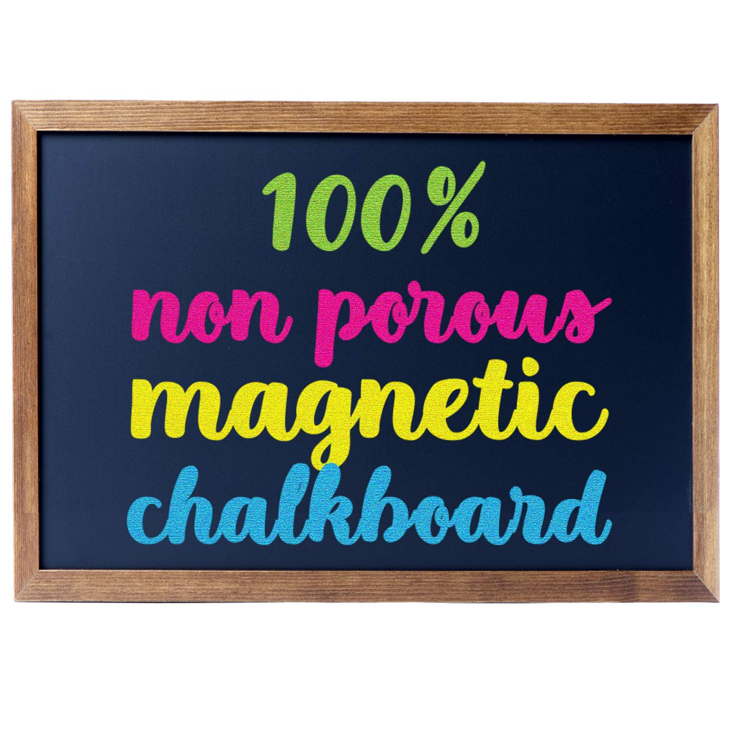 Cedar Markers 36''x24'' Chalkboard with Wooden Frame. 100% Non-Porous Erasable Blackboard and Whiteboard for Liquid Chalk Markers. Magnet Board Chalk Board Decorative Chalkboard for Parties (36x24) by Cedar Markers