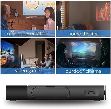 Proyector aao S1 portátil Mini HD Proyector DLP 1500 lúmenes Sync ...
