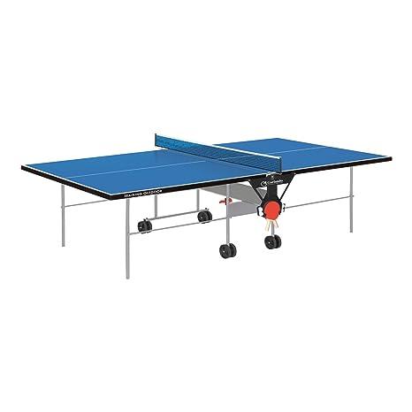 Tavolo Ping Pong Per Esterno.Garlando Tavolo Da Ping Pong Training Outdoor Con Ruote Per Esterno Blu