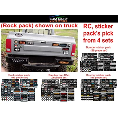 East Coast Vinyl Werkz Bumper/Window Decals for RC Scale cralwer Accessory - 4 Styles to Choose from - for: Axial SCX10 II RC4WD Redcat Gen8 TRX4 Vanquish VS4-10 Stickers (Rock): Automotive