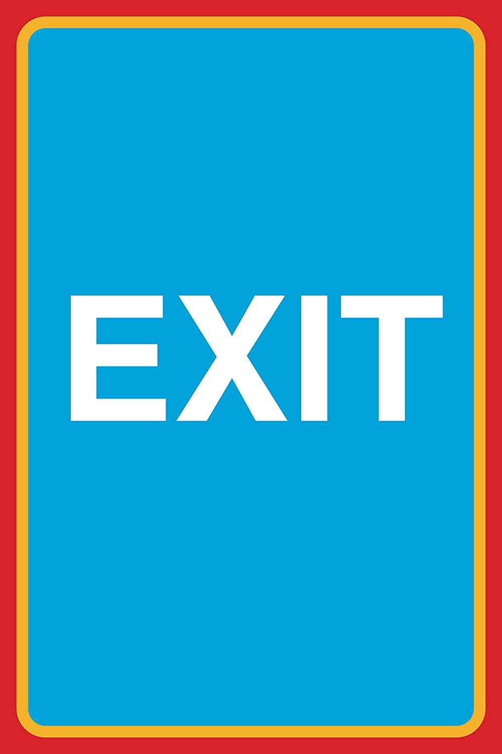 12x18 6 Pack Exit Print Large Road Street Business Work Office Customer Sign