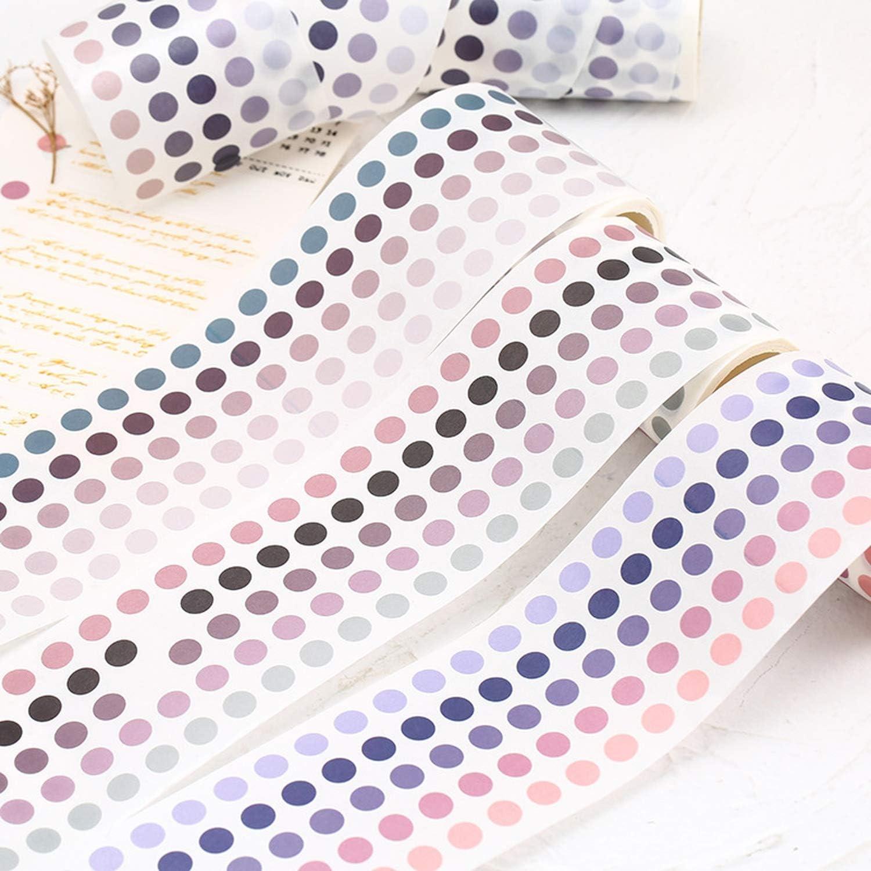 Scrapbooking Planner Washi Tape Colorful Dots DIY Diary Decor Masking Sticker