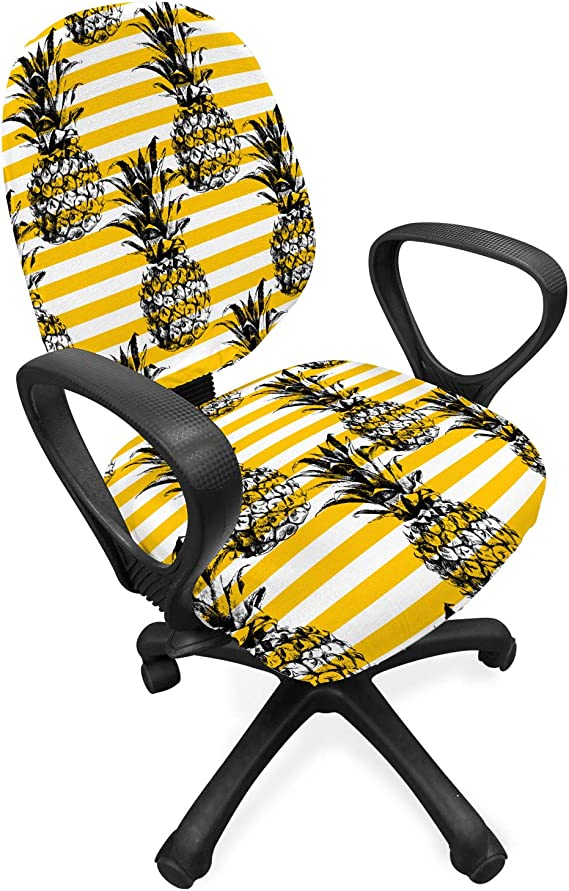 Ambesonne Fruits Office Chair Slipcover