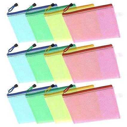 Comficent Bolsa Zip Transparente,Bolsas Transparentes A5 12 ...