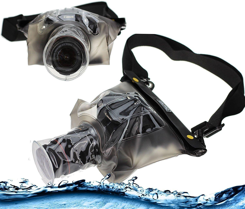 Navitech 防水水中ハウジングケース/カバーポーチ ドライバッグ Nikon D3400 デジタル一眼レフカメラ用 B0784D9MBD