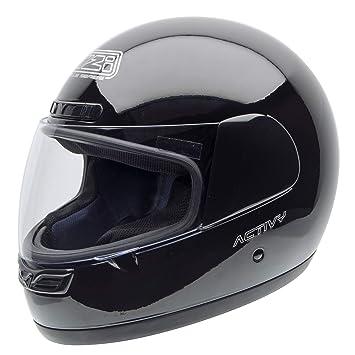 NZI Activy Casco de Moto, Negro, 57 (M)