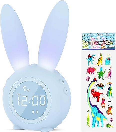 Temperature Alarm Clock for Kids 6 Ringtones for Baby Toddler Child Kids Wake Up Light /& Night Light with USB Charger Childrens Sleep Trainer Beenate Bedside Digital Alarm Clock for Bedroom