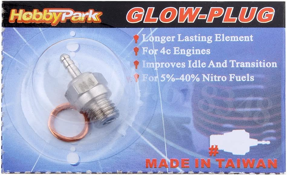 Hobbypark 6PCS 70117 Glow Plug #4 N4 Spark Medium Hot Nitro Engine Parts for Traxxas Redcat HPI HSP 1//8 1//10 RC Car Truck Buggy