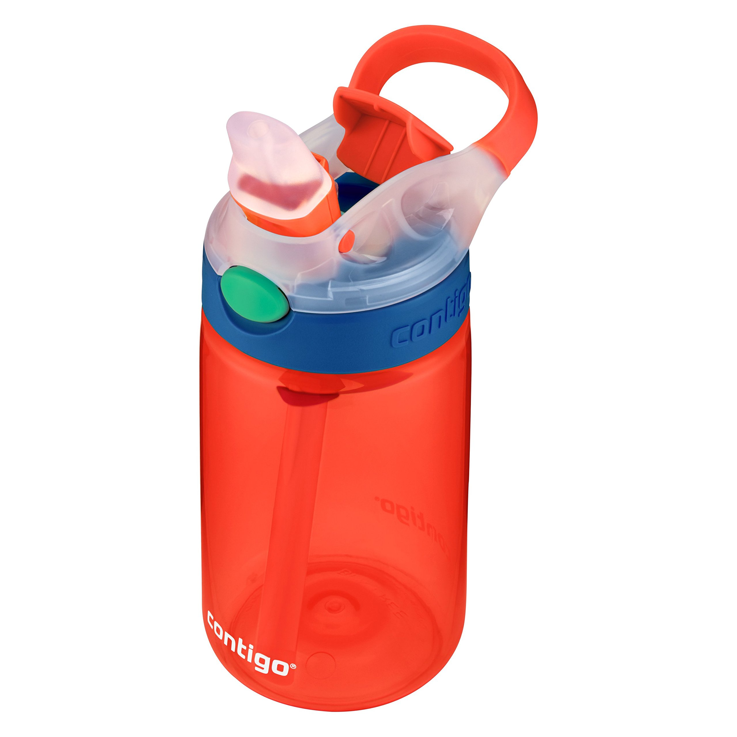 Contigo Kids Gizmo Flip Water Bottles, 14oz, French Blue/Coral, 2-Pack by Contigo (Image #4)