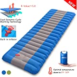 Overmont Extra Thickness 4.7IN Sleeping Pad Inflatable Camping Mat Ultimate Air Mattress Compact Carry Bag Built-in Pump Wate