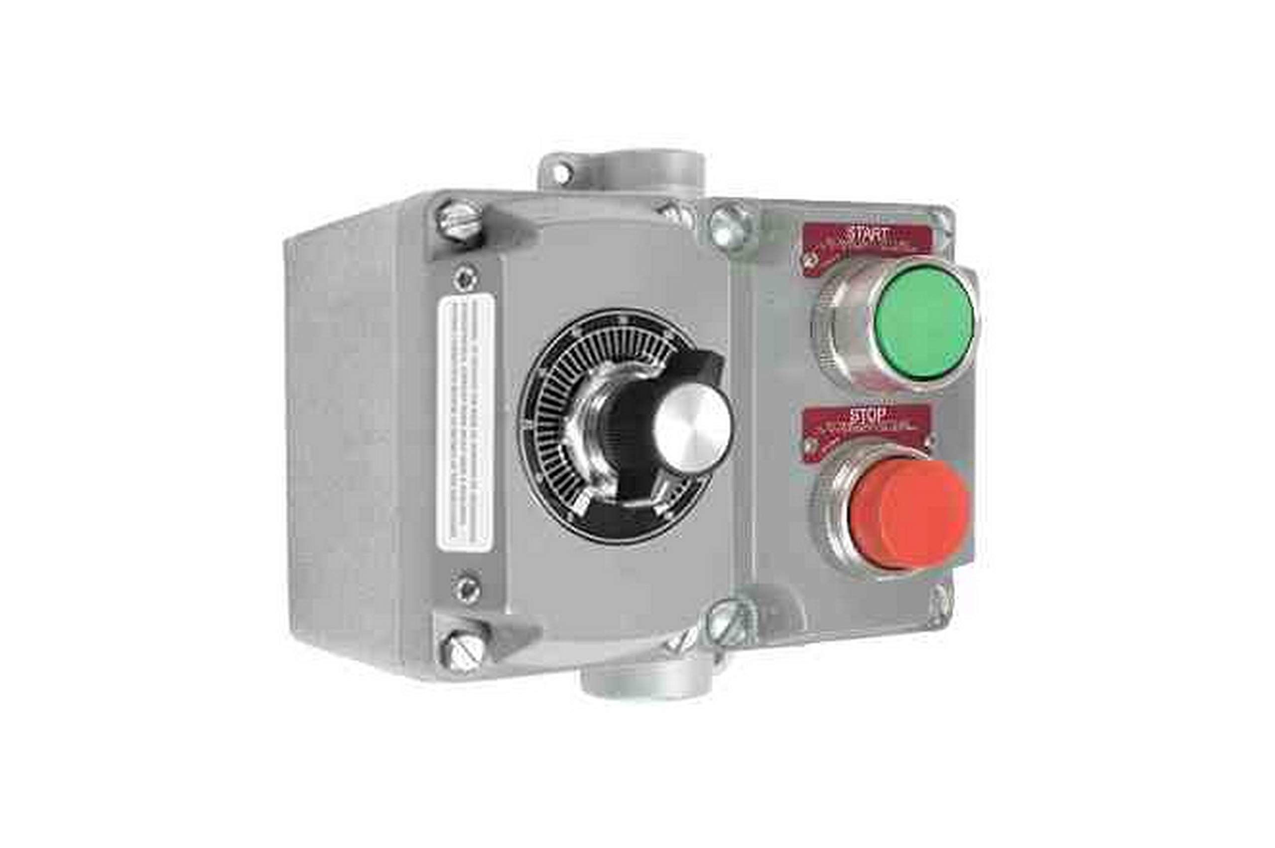 Explosion Proof Switch w/Potentiometer - C1D1 C2D1-1-10K Ohms - Rotary Dial - Double Gang Box by Larson Electronics