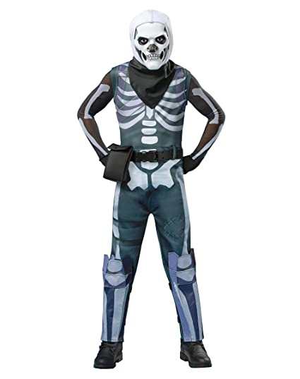 4fe8539c1d829 Amazon.com: Spirit Halloween Kids Fortnite Skull Trooper Costume: Clothing