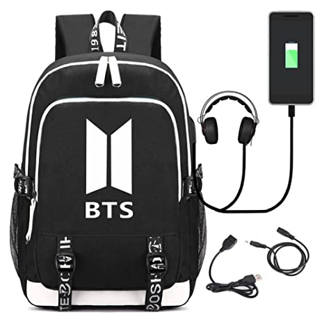 Amazon.com: Kpop BTS Middle School College - Mochila para ...