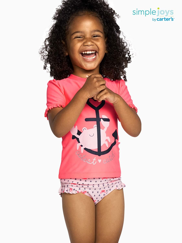 Simple Joys by Carters Baby-M/ädchen 2-Piece Rashguard Set