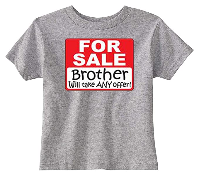 8a67a00f Amazon.com: U.S. Custom Kids Brother for Sale Sign Toddler T-Shirt ...
