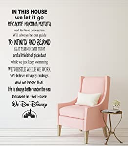 Pinkie Penguin in This House We Do Disney Famous Movie Quote Wall Decal Living Room Decor Art Vinyl