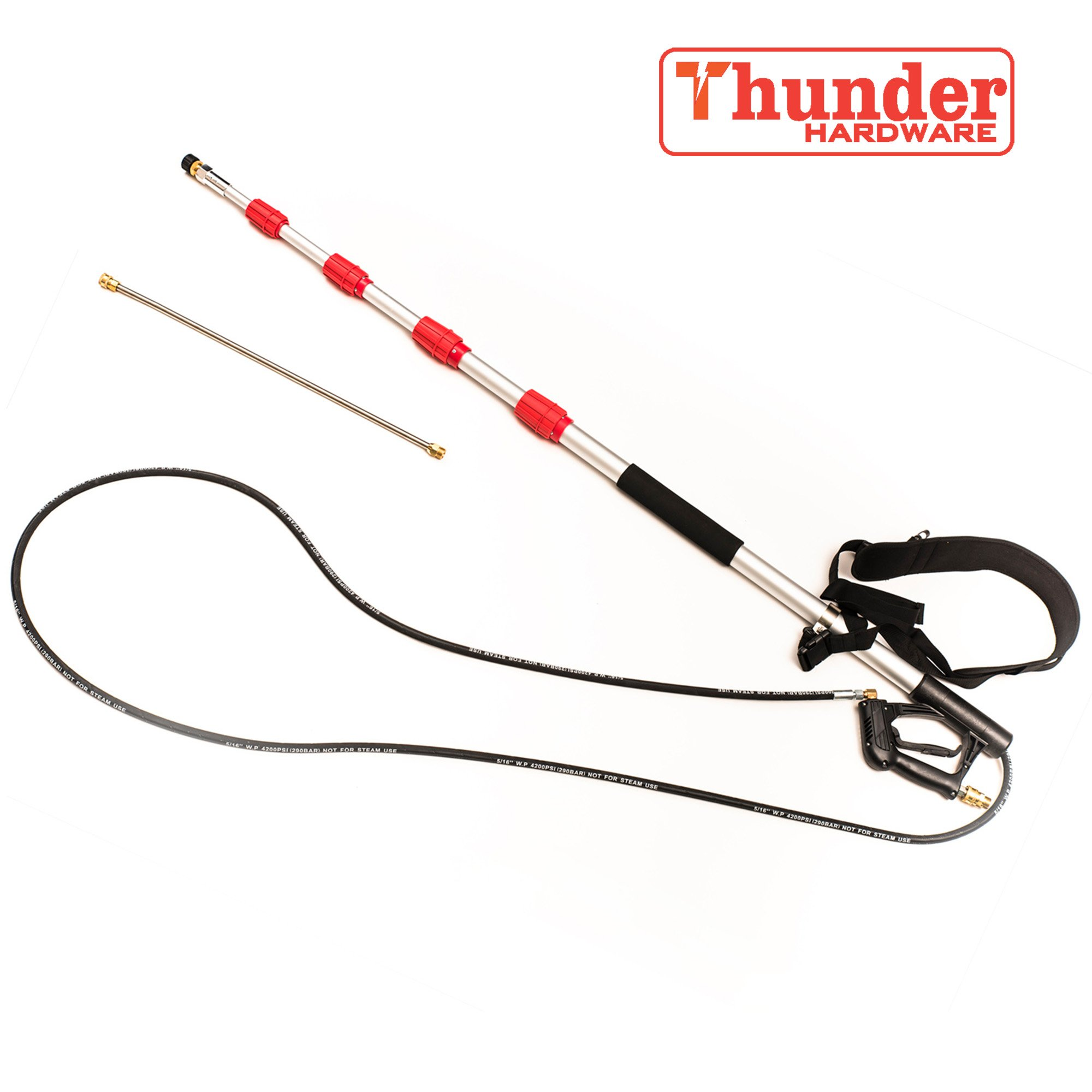 Thunder Hardware 4000 psi Commercial Grade Telescoping Spray Wand for Pressure Washers