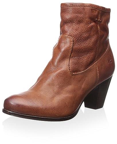 FRYE Women's Paulina Artisan Zip Ankle Boot, Whiskey, ...