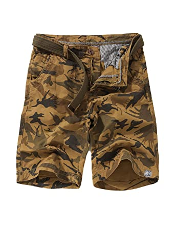 42d20e6bc1 EAGLIDE Men's Regular Fit Twill Cargo Shorts, Mens Athletic Breathable Cotton  Ripstop Pockets Cargo Shorts