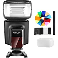 Neewer TT560 Flash Speedlite with 12 Color Filters Kit for Canon Nikon Panasonic Olympus Pentax and Other DSLR Cameras, Hard Diffuser and Microfiber Cleaning Cloth Included