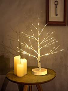Hypestar Artificial Decorative Centerpiece   24 Warm White LED Star USB Operated  Tabletop Decoration Light Tree   Christmas Easter Holiday Party Indoor Decor 18 Inches… (Star Lighted Tree)