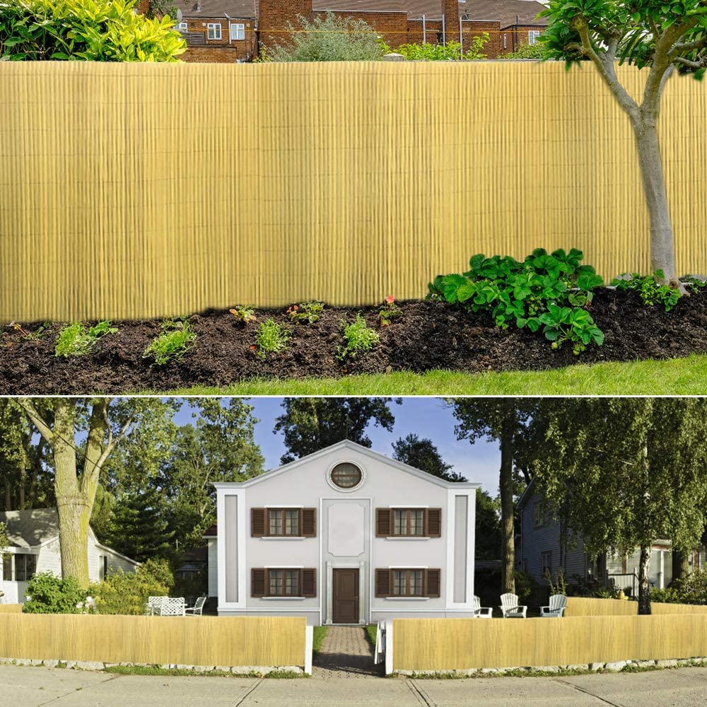 Aufun Estera Protectora de PVC protecci/ón contra el Viento en Jardines Balcones y terrazas Protecci/ón de privacidad de PVC