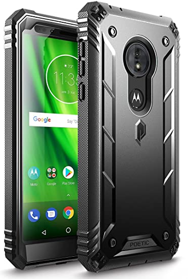 timeless design 99ea8 91efd Moto G6 Play Rugged Case, Moto G6 Forge Rugged Case, Poetic Revolution  [Built-in-Screen Protector] Heavy Duty Full Body Case for Moto G6 Play/Moto  G6 ...