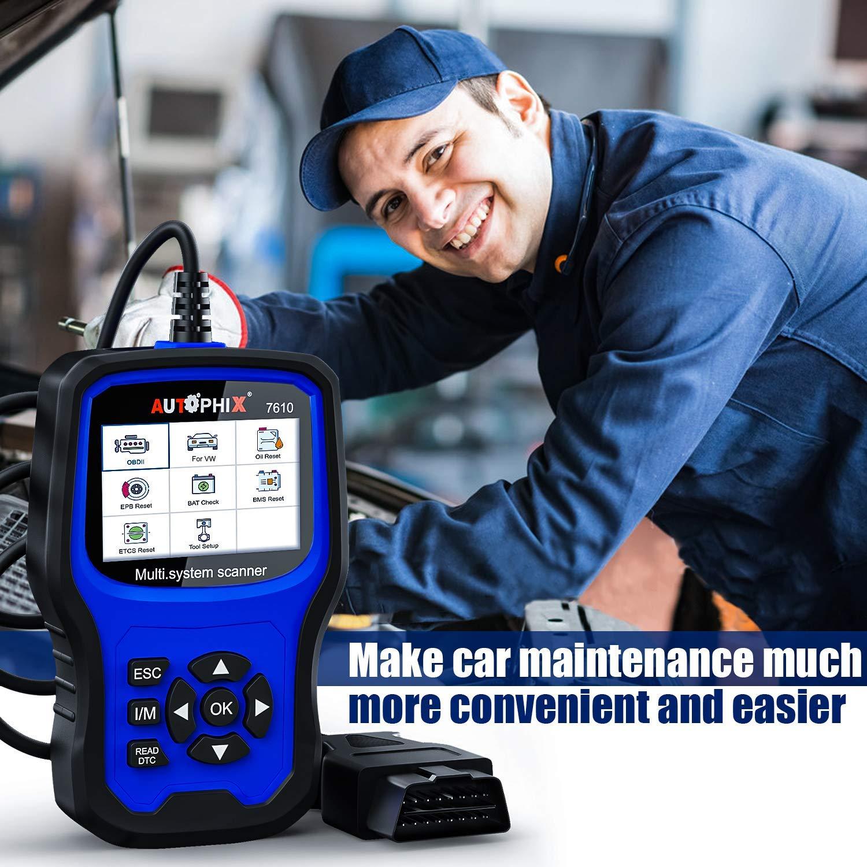Anormales Diagnostics OBD pour V/éhicule Permettant de Lire et deffacer Le Code derreur du Moteur AUTOPHIX OBD2 Diagnostiqueur Automatique Lecteur de Codes pour tous les syst/èmes de v/éhicule VW Audi Skoda Seat