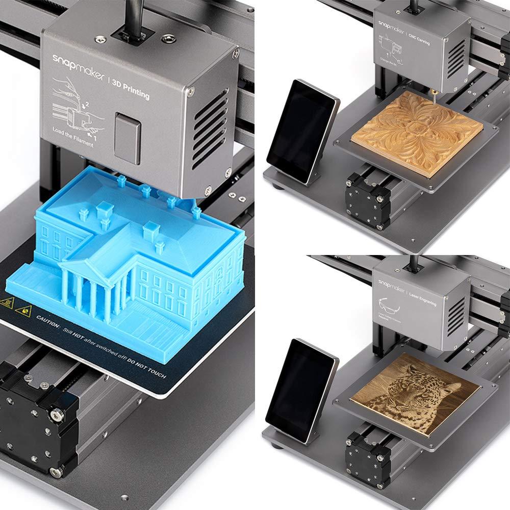 Snapmaker Impresora 3D 3 en 1 (impresión 3D/CNC tallado/grabado ...