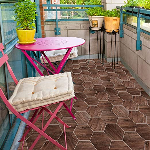 Amazon Com Lodintech Hexagon Floor Tile Stickers Peel And Stick
