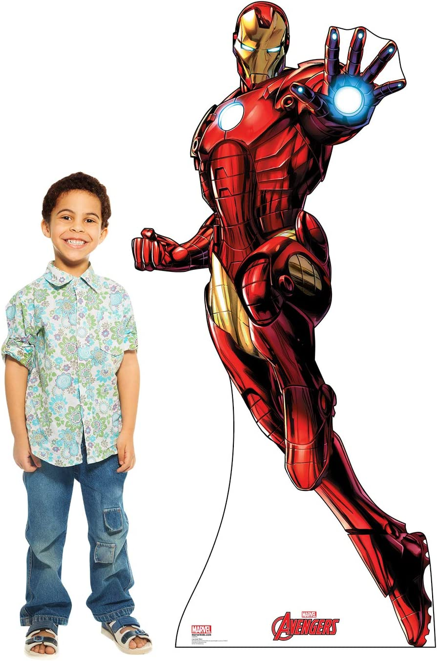Superhero Cardboard Cutouts Iron Man Super Hero Card Board Cut Out Stand Up