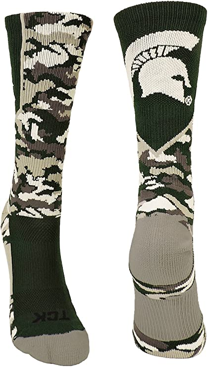 TCK Michigan State University Spartans Perimeter Crew Socks