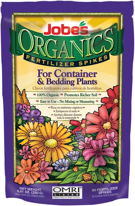 Jobes Organics Fertilizer Spikes 3-5-6 - Pack of 50