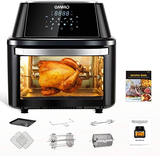 Amazon Com Ommo Air Fryer Oven Combo 17 Quarts 1800w Air Fryer